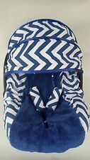 baby infant car seat cover canopy cover fit most infant car seat navy blue white