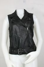 Madewell leather tour vest jacket M new motorcycle black biker A0617
