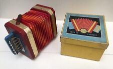 Petit Accordéon - Instrument Jouet JM (Jeux et Musique) 1960's, BE+ en boite