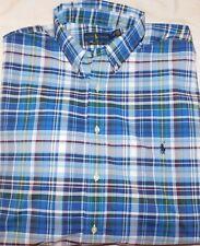 New Men's Polo Ralph Lauren Plaid Button Down Performance Shirt 2XLT TALL