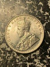 1918 India 1 Rupee Lot#Q3974 Silver! High Grade! Beautiful!