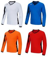 Mizuno Men GAME L/S T-Shirts Jersey Training Red White Blue Top Shirt P2MA502162