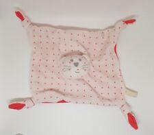 Doudou cat flat toe 'cabbage monoprix knots white magenta pink star new