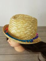 FULLCIRCLE Ladies Travel Hat 100% Straw Fedora Style Panama Sun Beach Hat