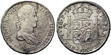 SPAIN COIN FERNANDO VII 8 REALES 1818 POTOSI PLATA SILVER ORIGINAL MAGNIFICA!!