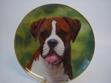 "DANBURY MINT THE BOXER DOG SAY ""AAH""  PLATE"