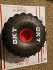 (1) REPLACEMENT TIRE & RED RIM ONLY FOR MONSTER JAM MEGA GRAVE DIGGER RC TRUCK