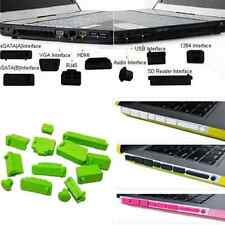 Universal Silicone USB HDMI Port Anti Dust Plug Cover 13pcs for Laptop Notebook