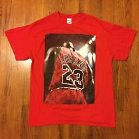 VTG 90s Michael Jordan T-Shirt Mens Large Basketball Streetwear 23 OG Red Bulls