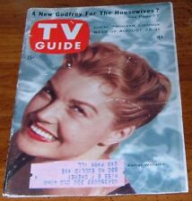 1956 TV GUIDE COVER'S ONLY~SWIMMER ACTRESS ESTHER WILLIAMS~COVER'S ONLY