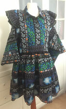 Original kenzo x h&m vestido folklorekleid patterned dress tamaño XS size XS