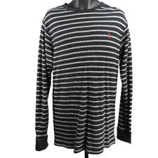 U.S. POLO ASSN. Gray & Black Striped Long Sleeve Thermal Shirt Men's Size XL