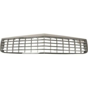 Grille For 94-96 Cadillac DeVille Chrome Shell w/ Silver Insert Plastic