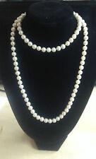 "36"" Long Pearl Bead Rope Necklace Vintage Wedding Bridal Costume UK SELLER"