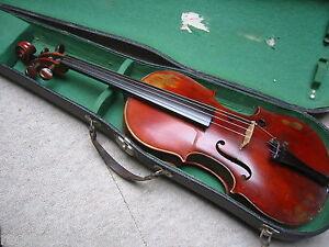 """Interessante alte Geige """"Giuseppe Fiorinii München 1883"""" mit Siegel  old violin"""