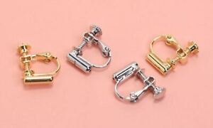 2 Pieces Screw Back Clip on Earring Converters From Pierced Earrings, Findings