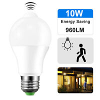 E27 10W PIR Motion Sensor Led Light Lamp Sensor Bulb 110V 220V Indoor Outdoor