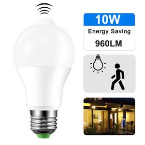 E27 10W PIR Motion Sensor Led Light Lamp Sensor Bulb 110V 220V Indoor Outdoor