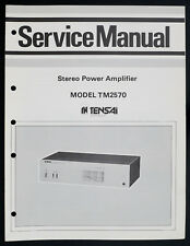 Tensai tm2570 Original POWER AMPLIFIER/AMPLIFICATEUR service-manual/Diagram o148
