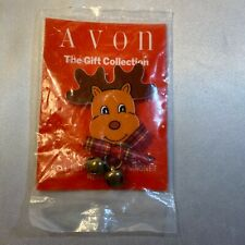 Vintage Avon Reindeer Magnet With Jingle Bells Red Nose! Charming! New!