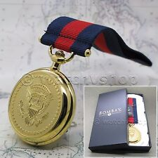 US Pocket Watch American Presidency Melody Medal with Chain and New in Box C41