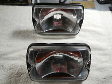 CIBIE 35 (Airport) genuine clear DRIVING lenses (pair) black bezel, new w/covers