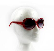 Ladies Womens Red Large Frame Vintage Retro Oval 80s Sunglasses Uv400 Beach