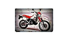 1988 dt200r Bike Motorcycle A4 Retro Metal Sign Aluminium
