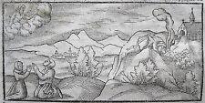 ORAKEL VON DELPHI SEBASTIAN MÜNSTER ORIGINAL-HOLZSCHNITT COSMOGRAPHIA 1578