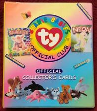 TY Beanie Babies Official Club 92 Collector's Cards in Album Notebook XLNT Hobby