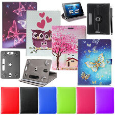 """UNIVERSAL 360°ROTATION LEATHER STAND CASE COVER For All 10"""",10.1""""Tab,Tablets"""