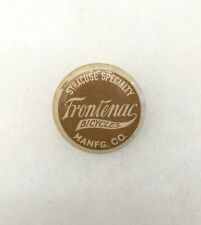 Antique 1890s 1900s Bicycle Stud Celluloid Button FRONTENAC BICYCLES Cycles
