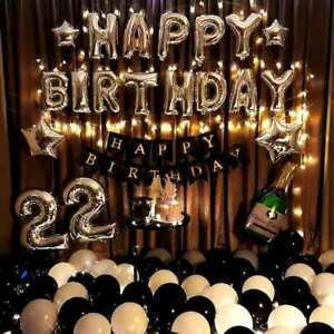 16 inch Happy Birthday Banner Foil Balloon Set Party 7 Colour Option AU Stock