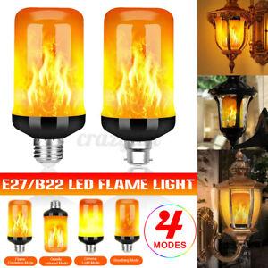 1/2/4pcs E27 B22 99 LED Flame Effect Fire Light Bulb Flickering Flame Bulb