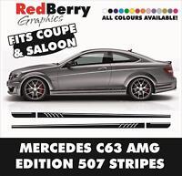 005 AMG 507 SIDE STRIPE DECAL - MERCEDES BENZ C63 EDITION 1 CLASS DESIGN VINYL