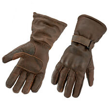 Gallanto Brown Motorcycle Armoured Thinsulate Leather Winter Gloves Motorbike