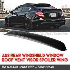 MADE FOR 06-15 HONDA CIVIC SEDAN REAR WINDOW SPOILER SUN GUARD SMOKE TINT VISOR