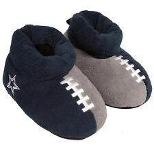 Dallas Cowboys NFL Youth Boys' Blue Gray Football Slippers Size 10-11 - NWT