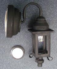 1:12 Scale Working LED Battery Black Coach Light Dolls House Miniature DE305
