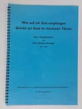 organ GION ANTONI DERUNGS zwei orgelpartiten