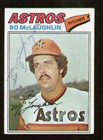 Bo McLaughlin #184 signed autograph auto 1977 Topps Baseball Trading Card