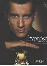 PUBLICITE ADVERTISING 2006   LANCOME parfum homme HYPNOSE