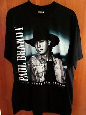 PAUL BRANDT music tour T shirt lrg country 1997 Canada cowboy tee OG