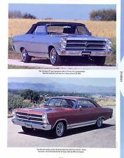 1966 Ford Fairlane GT/GTA 390 427 and a 1967 Fairlane 427 Info/Specs/photo 11x8