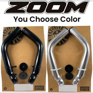 ZOOM MT-31A Bar Ends Mountain Bike Handlebar extensions Ergonomic Black Silver