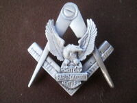 harley eagle freemasons masonic widows sons vest badge