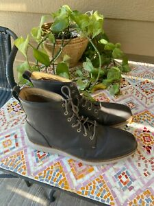 $380 Cole Haan Original grand Leather Lace Up GRAY Casual Dress Boots 12