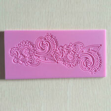 EG_ FONDANT MOULD LACE CAKE IDEAL CRAFT DIY MAT TEXTURE FLOWER DECORATING MOLD