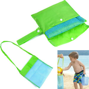 Kids Portable Sand Away Mesh Beach Bags Carrying Toys Organizer Storage Pouch UK