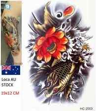 Body Art Beauty Cool Flower Japanese Carp Waterproof Temporary Tattoo Stickers